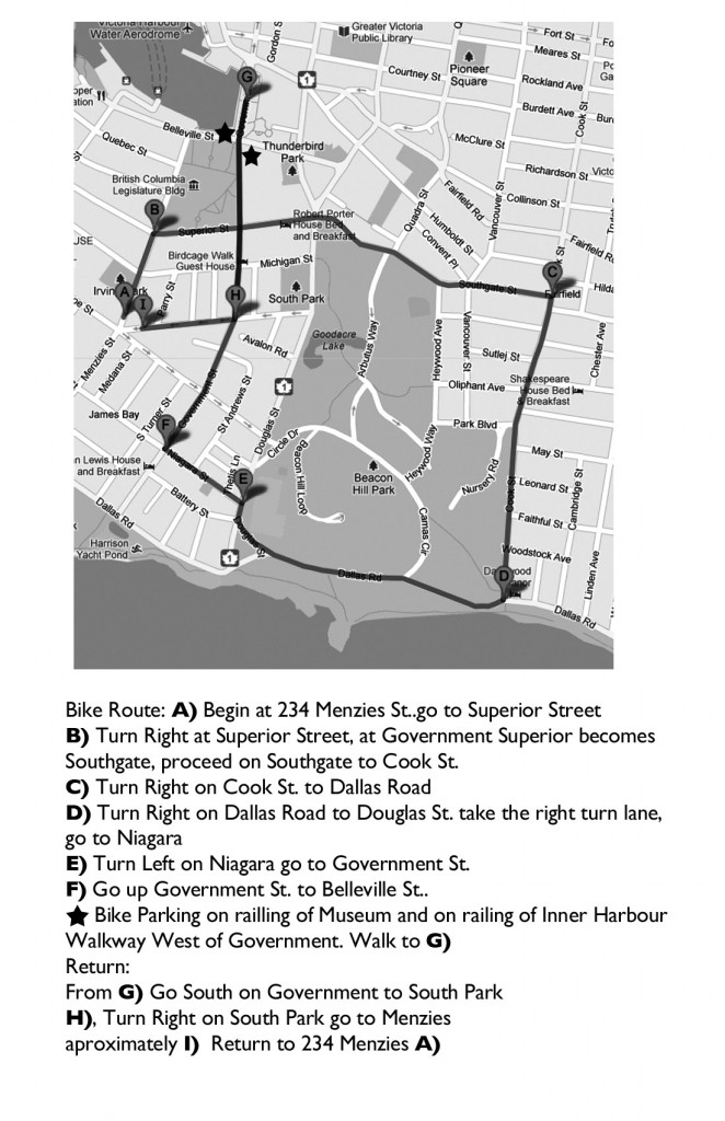 QP Bike Route Map B&W